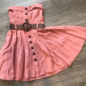 Body Central Mauve Pink Strapless Dress